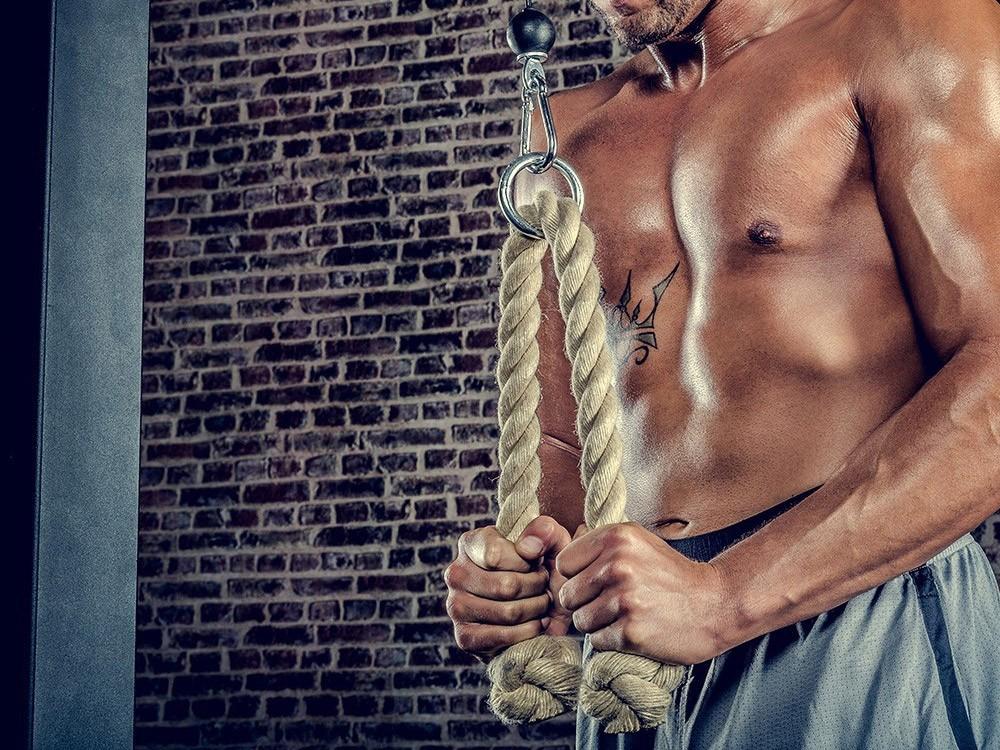 Kabelaccessoires: het Triceps Touw