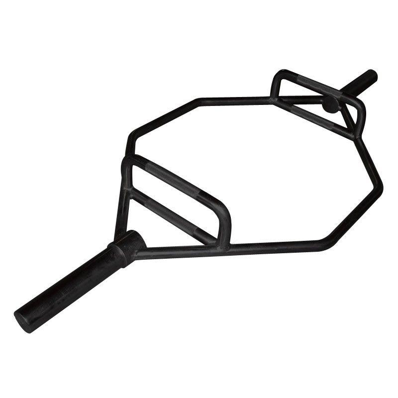 Olympische hex bar zwart 140 cm