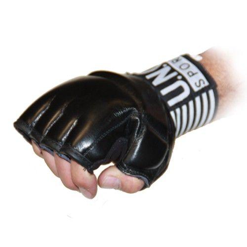 U.N.O Black Combat MMA Leder