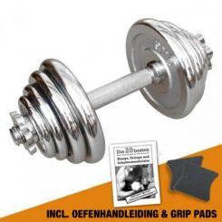 Chromen Dumbbell 15 kg / 1 kg stappen