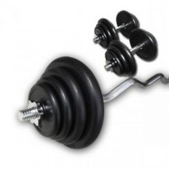 Rubberen Curl Plus Set 80kg