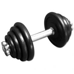 Gietijzeren Dumbbell 15 kg / 1 kg stappen