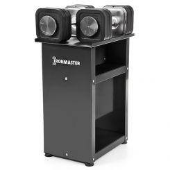 Ironmaster Quick-Lock Dumbbells 34 kg + Standaard