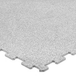 Puzzelmat 96 x 96 x 0,8 cm - Wit/grijs