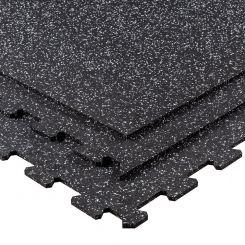 Puzzelmat 96 x 96 x 1 cm - Zwart/grijs