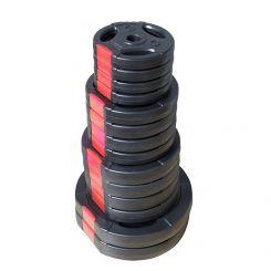 Set Halterschijven 55 kg - Kunststof-Gripper 30 mm